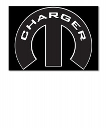 Charger Mopar M Landscape Sticker $6.00