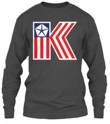 Chrysler K Car Flag Charcoal Gildan 6.1oz Long Sleeve Tee $25.99