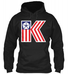 Chrysler K Car Flag Black Gildan 8oz Heavy Blend Hoodie $38.99