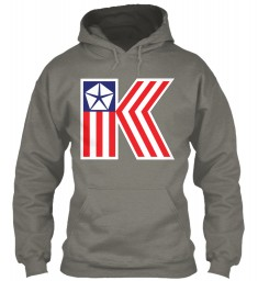 Chrysler K Car Flag Charcoal Gildan 8oz Heavy Blend Hoodie $38.99