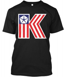 Chrysler K Car Flag Black Hanes Tagless Tee $21.99