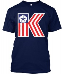 Chrysler K Car Flag Navy Hanes Tagless Tee $21.99