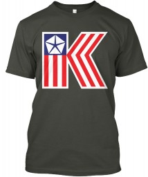 Chrysler K Car Flag Smoke Gray Hanes Tagless Tee $21.99