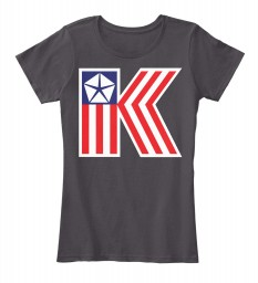 Chrysler K Car Flag Heathered Charcoal Women's Premium Tee $22.99