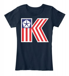 Chrysler K Car Flag New Navy Women's Premium Tee $22.99