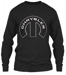 Chrysler Mopar M Black Gildan 6.1oz Long Sleeve Tee $25.99