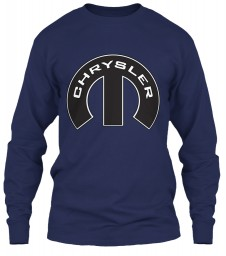 Chrysler Mopar M Navy Gildan 6.1oz Long Sleeve Tee $25.99