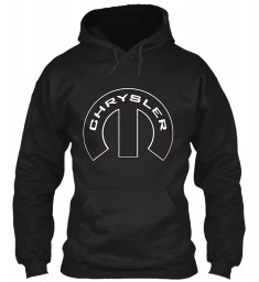 Chrysler Mopar M Black Gildan 8oz Heavy Blend Hoodie $38.99