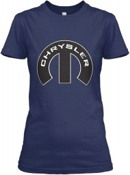 Chrysler Mopar M Navy Gildan Women's Relaxed Tee $21.99