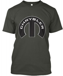 Chrysler Mopar M Smoke Gray Hanes Tagless Tee $21.99