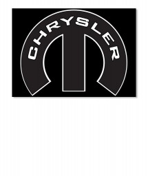 Chrysler Mopar M Landscape Sticker $6.00