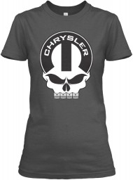 Chrysler Mopar Skull Charcoal Gildan Women's Relaxed Tee $21.99