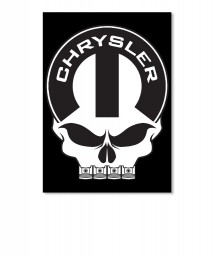 Chrysler Mopar Skull Sticker