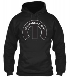 Conquest Mopar M Black Gildan 8oz Heavy Blend Hoodie $38.99