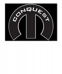 Conquest Mopar M Landscape Sticker $6.00