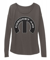 Coronet 440 Mopar M Dark Grey Heather  Women's  Flowy Long Sleeve Tee $43.99