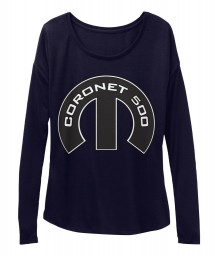 Coronet 500 Mopar M Midnight  Women's  Flowy Long Sleeve Tee $43.99
