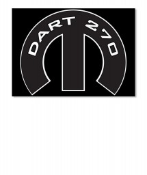 Dart 270 Mopar M Sticker
