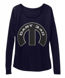 Dart 340 Mopar M Midnight BELLA+CANVAS Women's  Flowy Long Sleeve Tee $43.99
