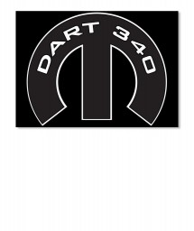 Dart 340 Mopar M Sticker