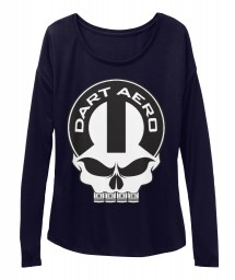 Dart Aero Mopar Skull Midnight  Women's  Flowy Long Sleeve Tee $43.99