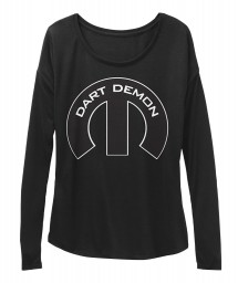 Dart Demon Mopar M Black BELLA+CANVAS Women's  Flowy Long Sleeve Tee $43.99
