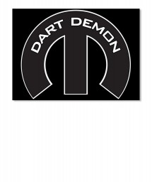 Dart Demon Mopar M Landscape Sticker $6.00