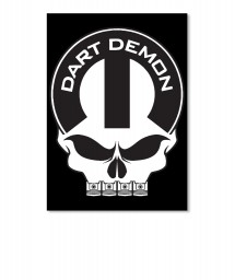 Dart Demon Mopar Skull Sticker