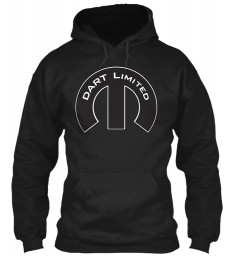 Dart Limited Mopar M Black Gildan 8oz Heavy Blend Hoodie $38.99