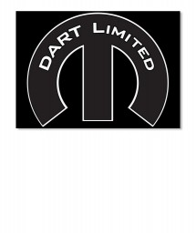 Dart Limited Mopar M Sticker