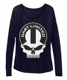 Dart Limited Mopar Skull Midnight BELLA+CANVAS Women's  Flowy Long Sleeve Tee $43.99