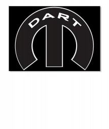 Dart Mopar M Sticker
