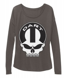 Dart Mopar Skull BELLA+CANVAS Women's  Flowy Long Sleeve Tee
