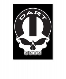 Dart Mopar Skull Portrait Sticker $6.00