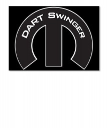 Dart Swinger Mopar M Sticker