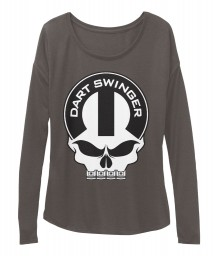 Dart Swinger Mopar Skull BELLA+CANVAS Women's  Flowy Long Sleeve Tee