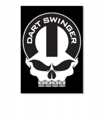 Dart Swinger Mopar Skull Sticker