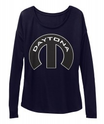 Daytona Mopar M Midnight BELLA+CANVAS Women's  Flowy Long Sleeve Tee $43.99