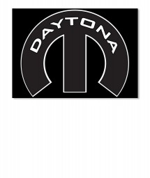 Daytona Mopar M Sticker