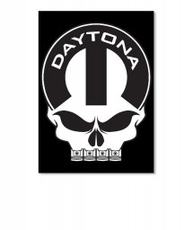 Daytona Mopar Skull Sticker