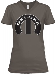 Deluxe Mopar M Asphalt BELLA+CANVAS Women's V-Neck Tee $23.99