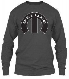 Deluxe Mopar M Charcoal Gildan 6.1oz Long Sleeve Tee $25.99