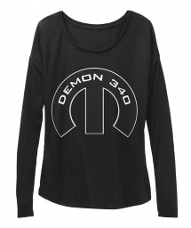 Demon 340 Mopar M Black  Women's  Flowy Long Sleeve Tee $43.99