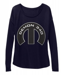 Demon 340 Mopar M Midnight  Women's  Flowy Long Sleeve Tee $43.99