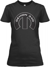 Demon 340 Mopar M Black Gildan Women's Relaxed Tee $21.99