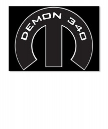 Demon 340 Mopar M Landscape Sticker $6.00