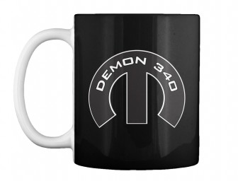 Demon 340 Mopar M Black Teespring Mug $14.99