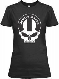 Demon Darts Mopar Skull Black Gildan Women's Relaxed Tee $21.99