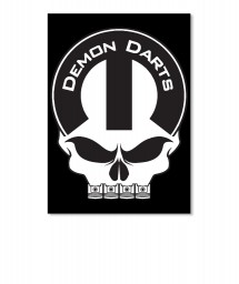 Demon Darts Mopar Skull Sticker