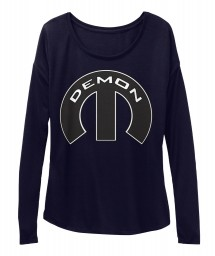 Demon Mopar M Midnight  Women's  Flowy Long Sleeve Tee $43.99